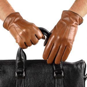 Перчатки мужские 29К_40074_10_П; кожа; коньяк (Размер 9)