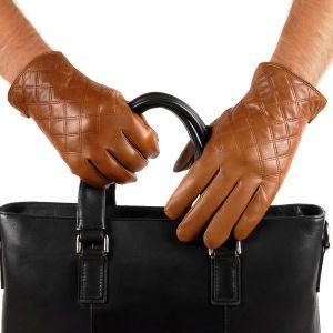 Перчатки мужские 29К_40075_10_П; кожа; коньяк (Размер 10)