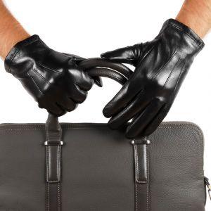 Перчатки мужские 29К_40077_10_П; кожа; черный (Размер 9,5)