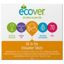 Ecover Таблетки для посудомоечной машины три в одном 1,4 кг