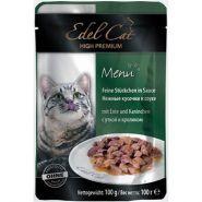 Edel Cat Нежные кусочки в соусе с уткой и кроликом (100 г)