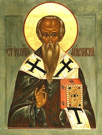 Икона Иоанн Милостивый (рукописная)