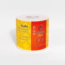 MANEKI Бумага туалетная, серия Kabi, 3 слоя, 280 л., 39.2 м, гладкая, белая с ароматом Ромашки, 1 рулон