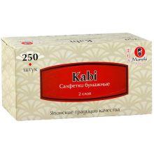 """Maneki салфетки бумажные """"Kabi"""" двухслойные, тон белые, 250 шт."""