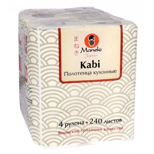 Maneki Полотенца кухонные бумажные Kabi 2 слоя, 60 л., 4 рул./уп.