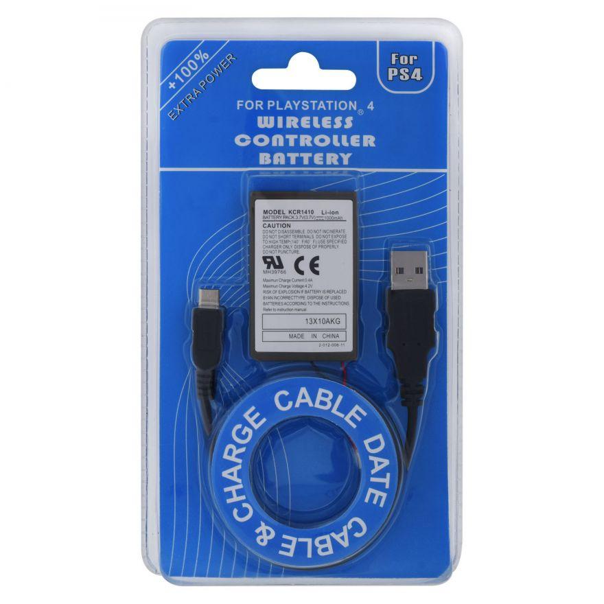 Аккумулятор для джойстика Dualshock 4 (PS4) + USB провод