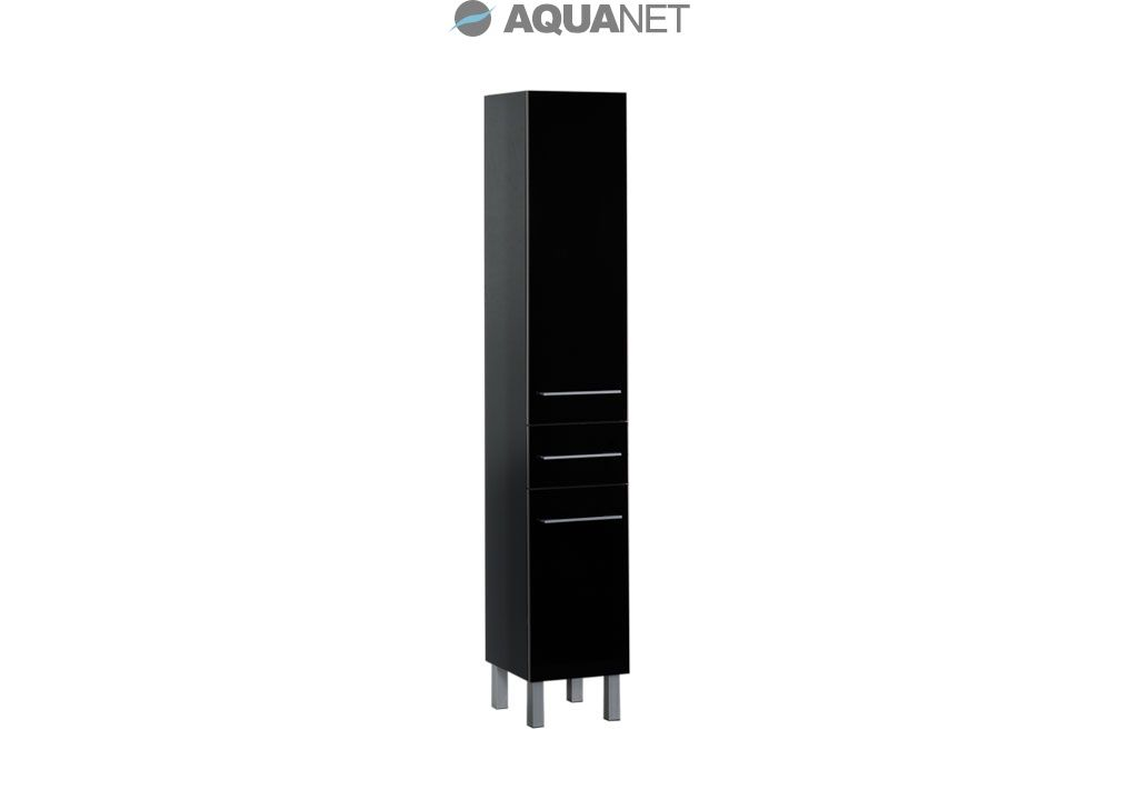 Пенал Aquanet  Верона 35 напольный, цвет черный (178971)