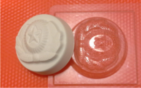 Форма для мыла Кокарда БП