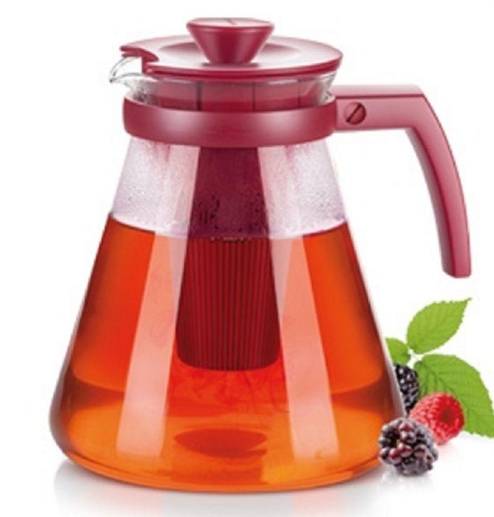 Стеклянный чайник TEO TONE 1,7 л с ситечками для заваривания 646625