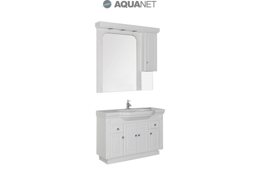 Комплект мебели Aquanet  Фредерика  125 раковина LAUFEN цвет белый (170097)