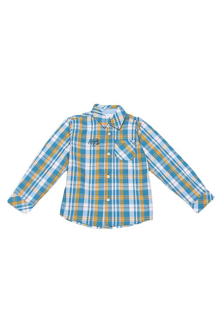 Хлопковая рубашка в клетку для мальчика