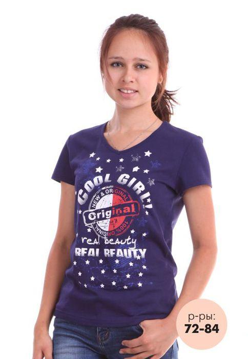 Летняя футболка с коротким рукавом для девочки подростка