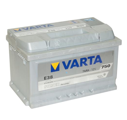 Автомобильный аккумулятор АКБ VARTA (ВАРТА) Silver Dynamic 574 402 075 E38 74Ач ОП
