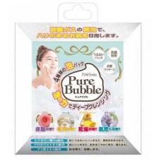 """""""Pure Bubble"""" Очищающие пенные маски для лица с гиалуроновой кислотой и ценными экстрактами в ассортименте (роза, жемчуг, мед, экстракт улитки) 3 мл*4 шт"""
