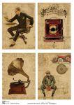 Декупажные карты Men & Vintage