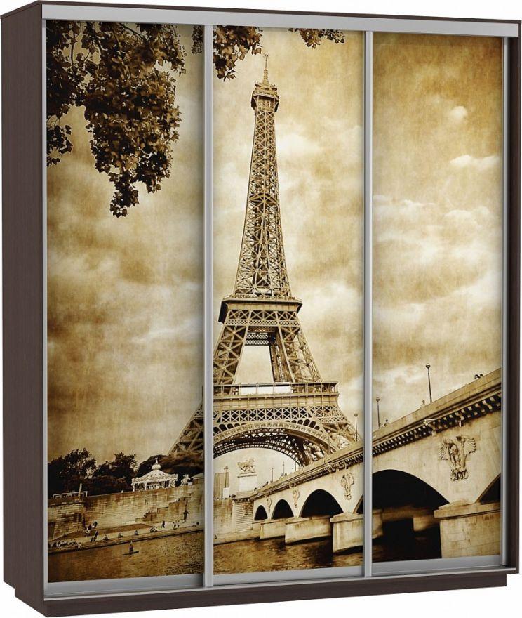 Шкаф-купе Трио-трехдверный Фото (Париж)   E1 Экспресс