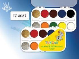 Акварель волшебная, 10 цветов с блестками, пластмассовая упаковка (арт. TZ 8083)