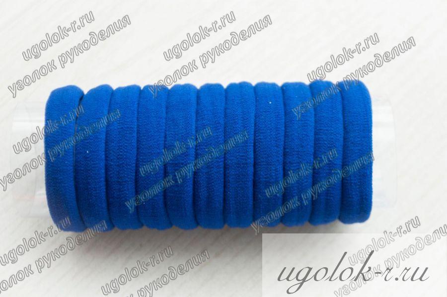 Резинка бесшовная 4 см (синяя)