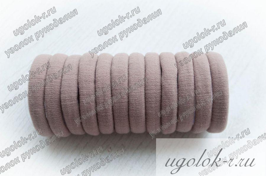 Резинка бесшовная 4 см (светло-коричневая)