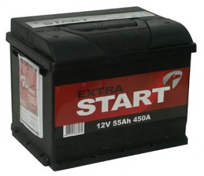 Автомобильный аккумулятор АКБ Extra START (Экстра Старт) 6CT-55 55Ач о.п.