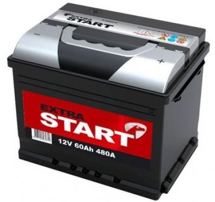 Автомобильный аккумулятор АКБ Extra START (Экстра Старт) 6CT-60 60Ач о.п.