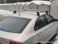 Багажник на крышу Skoda Rapid, Атлант, аэродинамические дуги, опора Е