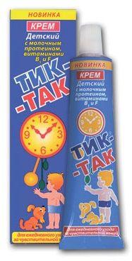 Крем детский Тик-так с молочным протеином