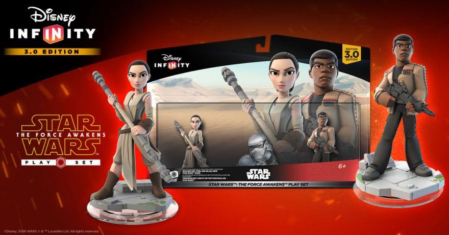 Набор фигурок 3 в 1 Star Wars The Force Awakens для Infinity 3.0
