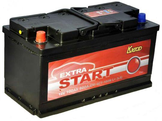 Автомобильный аккумулятор АКБ Extra START (Экстра Старт) 6CT-100 100Ач п.п.