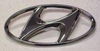 Эмблема решетки радиатора HYUNDAI Elantra '06-, Getz, Grandeur, i20, i30, ix55, Matrix, Sonata, Terracan, Trajet, Tucson, Veracruz 863002E000 863003A000 863003A001 Hyundai/Kia