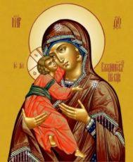 Владимирская икона Божией Матери (рукописная)