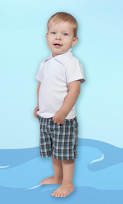Белый джемпер-поло для мальчика