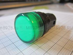 Лампочка светодиодная в корпусе 22мм 24в зел.