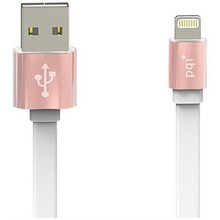 Кабель c Lightning 100см PQI  (made for iPhone,iPad, iPod) на USB двусторонний розово-золотой