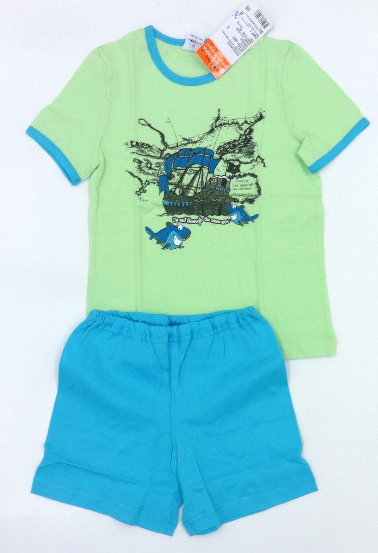 Легкая пижама для мальчика Морское путешествие