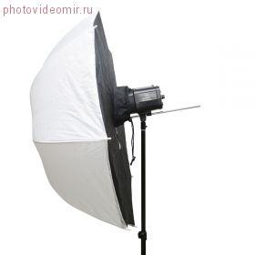 FUJIMI FJSU-40 Софтбокс-зонт белый на просвет. Цвет чёрный/белый. ф101 см
