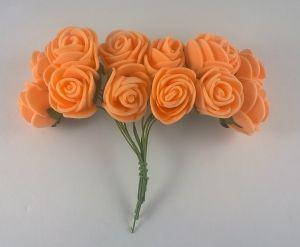 Цветы из фоамирана, 25 мм, 6х12шт, цвет: оранжевый