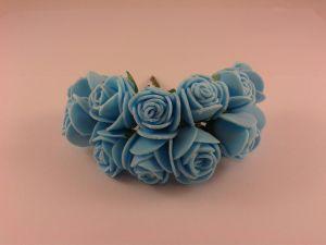 Цветы из фоамирана, 25 мм, 6х12шт, цвет: голубой