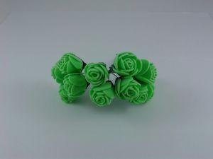 Цветы из фоамирана, 25 мм, 6х12шт, цвет: зеленый
