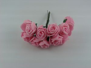 Цветы из фоамирана, 25 мм, 6х12шт, цвет: розовый