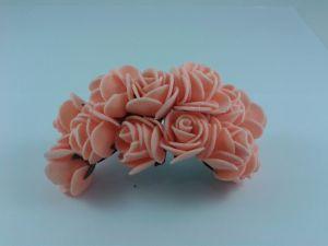 Цветы из фоамирана, 25 мм, 6х12шт, цвет: персиковый