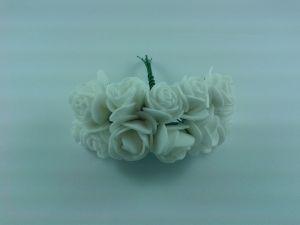 Цветы из фоамирана, 25 мм, 6х12шт, цвет: белый