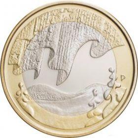 Зима Серия Северная природа 5 евро Финляндия 2012