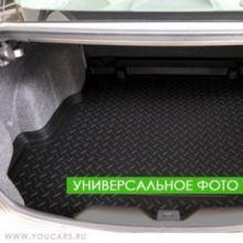 Коврик (поддон) в багажник, Unideс, полиуретановый черный с бортиками, фургон