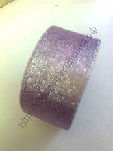 лента металлик 25мм бледно-розовая