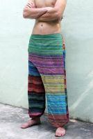 Оригинальные мужские штаны с необычным поясом, хлопок