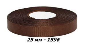 `Лента репсовая, ширина 25 мм, цвет 1596
