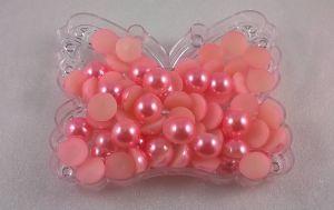 `Полубусины, диаметр 10 мм, цвет: розовый, 1уп=10 шт