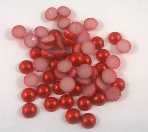 `Полубусины, диаметр 10 мм, цвет: красный, 1уп = 10 шт