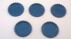 `Крышка, металл, внутренний диаметр 25 мм, наружный 31 мм, цвет №21 синий металлик